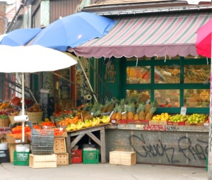 One of the many produce stands in Toronto's Kensington Market area.